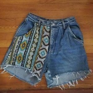 Boho Jean Shorts